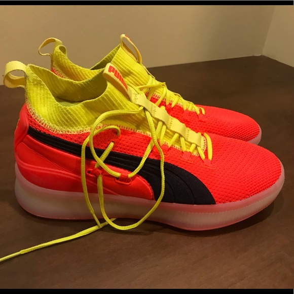 Puma Shoes   Clyde Court Disrupt Red